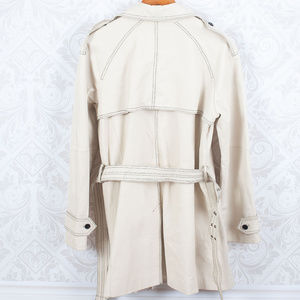 Newport News Jackets & Coats - NEWPORT NEWS Vintage Off White Leather Trench Coat